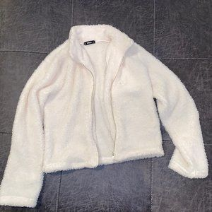 Shein Cream Fuzzy Jacket